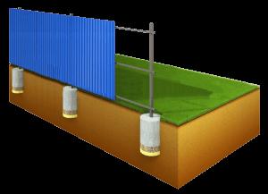 металлический забор эконом вариант в Таганроге